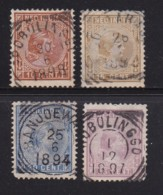 NETHERLAND-INDIES, 1892, Used Stamp(s), Princess Wilhelmina, NVPH 23=30, Scannr. 5410, 4 Values Only - Netherlands Indies