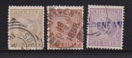 NETHERLAND-INDIES, 1892, Used Stamp(s), Princess Wilhelmina, NVPH 23=30, Scannr. 5411, 3 Values Only - Netherlands Indies