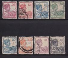 NETHERLAND-INDIES, 1913, Used Stamp(s), Queen Wilhelmina, NVPH 115=128, Scannr. 5414, 8 Values Only - Niederländisch-Indien