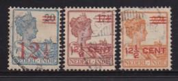 NETHERLAND-INDIES, 1921, Used Stamp(s), Queen Wilhelmina OVERPRINT, NVPH 171+142+143, Scannr. 5415, 3 Values Only - Netherlands Indies