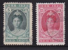 NETHERLAND-INDIES, 1923, Used Stamp(s), Jubilee Wilhelmina , NVPH 160=166, Scannr. 5416, 2 Values Only - Netherlands Indies
