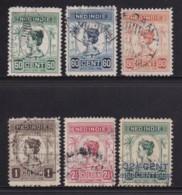 NETHERLAND-INDIES, 1913, Used Stamp(s), Wilhelmina , NVPH 129=134, Scannr. 5417, 5 Values Only - Netherlands Indies