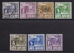 NETHERLAND-INDIES, 1938, Used Stamp(s), Karbou , NVPH 246-252, Scannr. 5422, - Netherlands Indies