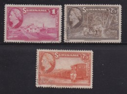 SURINAME, 1959, Used Stamp(s), Landscapes , NVPH 220=228, Scannr. 5425,  3 Values Only - Surinam ... - 1975