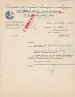 Algérie Facture Lettre Illustrée 20/10/1949 CANDELA Comptoir Produits Chimiques Oenologiques ORAN - Factures & Documents Commerciaux