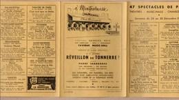 Vieux Papiers > Non Classés  Paris Montparnasse Chez Dumesnil Reveillon Du Tonnerre - Vieux Papiers