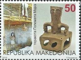 MK 2019-02 ,Cultural Heritage - GREAT MOTHER TERRACOTA ARCHEOLOGY 1 X 1v, MNH - Archéologie