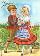 CPM - LORRAINE - Deux Enfants En Costume - Illust. N. Dufourt - Edit. LYNA - PARIS - N° 177/3 - Scans Recto-Verso - Scènes & Paysages