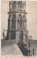 ***  75  ** *  PARIS  Notre Dame Base De La Fleche - Petit Pli -  Timbrée - Notre Dame De Paris