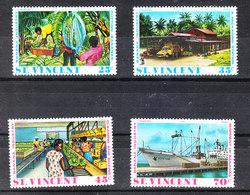 St. Vincent  - 1975. Coltivazione, Lavorazioe E Trasporto Banane. Cultivation, Processing And Transport Of Bananas. MNH - Alimentazione
