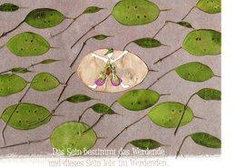 Spruch Sinnspruch - Das Sein Bestimmt Das Werdende - Collage Von Lisa Payr Rum - Künstlerkarten