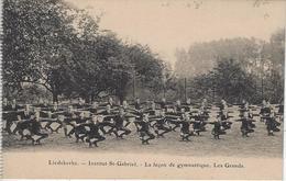 Liedekerke   -   Institut St-Gabriel.   -   La Leçon De Gymnastique.   Les Grands, - Liedekerke
