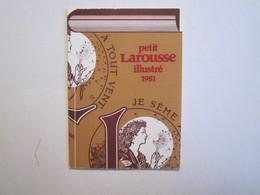 10 Aube Romilly Sur Seine Petit Calendrier Librairie Bégis Publicité Larousse - Calendriers
