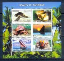 M169- Tanzania 2006. Beauty Of Zanzibar. Turtles Tortoises Monkey Cloves Ship. - Tanzania (1964-...)