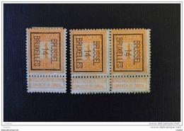Belgique 1914 Préo Bruxelles 14 ( 3 X)   Lourde Charnière - Precancels