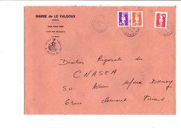 LETTRE DE MAIRIE DE LE FALGOUX CANTAL - Marcophilie (Lettres)