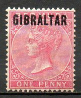GIBRALTAR - (Colonie Britannique) - 1886 - N° 2 - 1 P. Rouge Carminé - (Effigie De Victoria) - Gibraltar