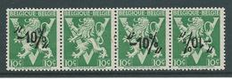België 724p Strook Van 4 Met Ontbrekende Opdruk - Variétés Et Curiosités