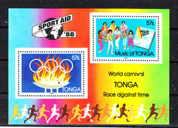 Tonga   -  1988.  Aiuto Allo Sport: Braciere Olimpico. Sport Aid: Olympic Brazier. MNH - Estate 1988: Seul