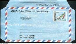 NOUVELLE CALEDONIE - AEROGRAMME N° 11 * * - REGATES - LUXE - Luftpost