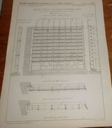 Plan De Portes En Tôle De L'écluse De La Monnaie à Paris. 1856. - Travaux Publics