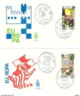 ITALIA FDC VENETIA - EUROPA CEPT - PALIO SIENA - SCACCHI MAROSTICA - ANNO 1981 - ITALIA REPUBBLICA - FDC