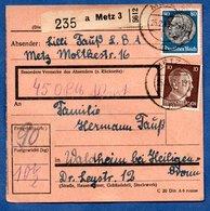 Colis Postal  /  Départ Metz  / Pour  Waldheim - Heiligenbronnn - Germany