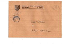 LETTRE DE MAIRIE DE CHAPDES-BEAUFORT PUY DE DOME - Marcophilie (Lettres)