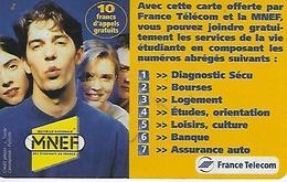 MNEF-etudiant-10 Francs D'appel Gratuit-peu Courante - Autres Prépayées