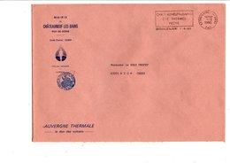 LETTRE DE MAIRIE DE CHATEAUNEUF-LES-BAINS PUY DE DOME - 1961-....