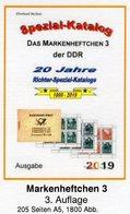 DDR 2019 Teil 4 Katalog MH 3 RICHTER Neu 25€ Markenheft Booklet #3 Carnet+se-tenant Error Special Catalogue Germany - Kataloge
