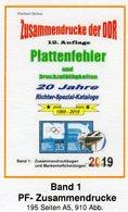DDR 2019 Teil 5 Abarten Bogen-ZD RICHTER Neu 25€ Katalog Zusammendrucke Se-tenants Error Special Catalogues Germany - Catalogi