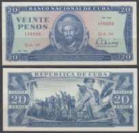 1983-BK-123 CUBA 1983 20$ XF LEVE DOBLEZ CAMILO CIENFUEGOS. - Cuba
