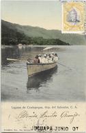 Laguna De COATEPEQUE, Rép. Del Salvador, C. A. - CPA Animée, Ayant Circulé En 1907. TBE. - Salvador