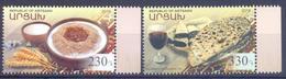 2018. Mountainous Karabakh, National Cuisine, 2v, Mint/** - Armenia