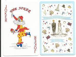 Carte De Jeu, Joker, Clown Sur Patin à Roulettes - Illustration - Autres Collections