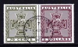 Australia 2015 Victoria Cross Set Of 2 CTO - Oblitérés