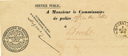 734/28 - Bande IMPRIMEE - Commissaire De POLICE Ville De Bruxelles 1890 Vers Commissaire De POLICE De BRECHT - Police - Gendarmerie