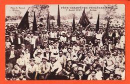 Nw5811 Rare ARLES Fête Champêtre PROLETARIENNE 7 Août 1927/ Tampon SECOURS ROUGE INTERNATIONAL Photo PARRAUD Miramas - Arles