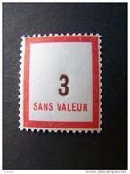 FICTIFS NEUF ** N°F119 SANS CHARNIERE (FICTIF F 119) - Phantomausgaben