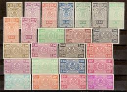 (Fb).Belgio.1941.Pacchi Postali.Tipi Del 1923-31.Serie Cpl.24 Val. Nuovi,linguellati,avec Charnière (163-15) - 1923-1941