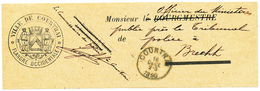 735/28 - Bande IMPRIMEE Complète - Commissaire De POLICE Ville De COURTRAI 1890 Vers Tribunal De POLICE De BRECHT - Police - Gendarmerie