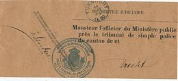 736/28 - Bande IMPRIMEE Complète - Commissaire De POLICE Ville De TURNHOUT 1890 Vers Tribunal De POLICE De BRECHT - Police - Gendarmerie