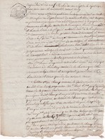 Papier Timbré Timbre De Dimension Tarif 25 C1 3 Brumaire An VII Monfaucon (Maine Et Loire) 19 Messidor An VII (1798) - Fiscaux