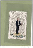 1 IMAGE   RELIGIEUSE  DENTELE  CANIVET ?  PREMIERE COMMUNION - Devotion Images