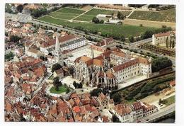 AUXERRE - N° 468 - VUE AERIENNE DU MUSEE SAINT GERMAIN - Cliché C. LEROUX - CPSM GF NON VOYAGEE - Auxerre