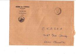 LETTRE DE MAIRIE DE CHIDRAC PUY DE DOME - Marcophilie (Lettres)
