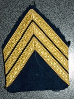 ECUSSON TISSUS  ARMEE FRANCAISE  GRADE SGT CHEF - Patches