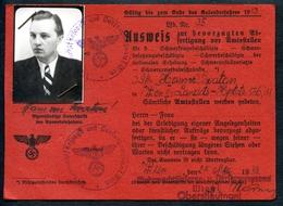 Ausweis, 1943, Wien,zur Bevorzugten Abfertigung Vor Amtsstellen,2. Weltkrieg,Versorgungsamt, Wehrmachtsfürsorge....TOP - Dokumente