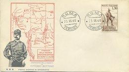 ITALIA - FDC TRE STELLE  1960 - VITTORIO BOTTEGO - ANNULLO ROMA - 6. 1946-.. Repubblica